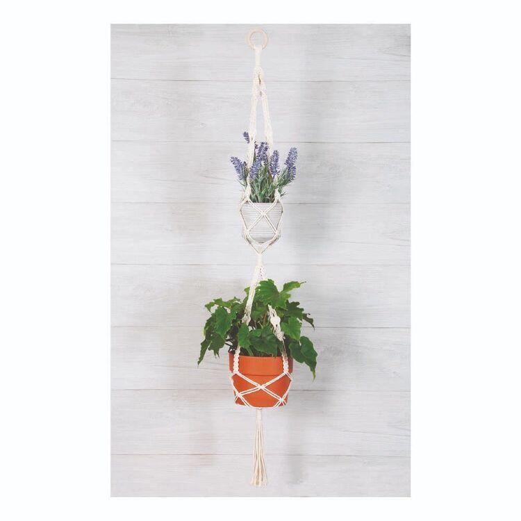 Solid Oak Double Plant Hanger Macramé Kit