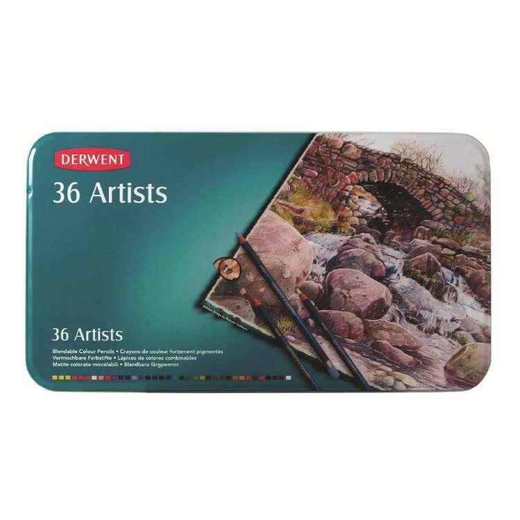 Derwent Artists 36 Blendable Colour Pencils Set