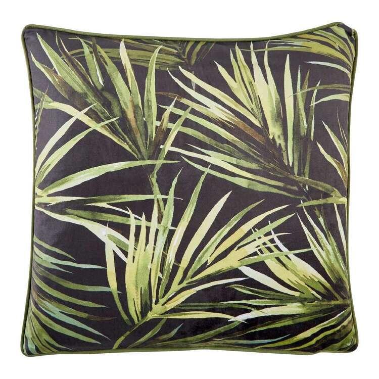 Koo Palms Printed Velvet Cushion