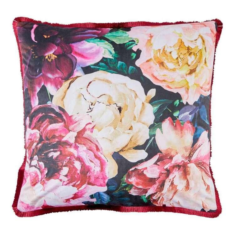 Koo Peony Printed Velvet Cushion