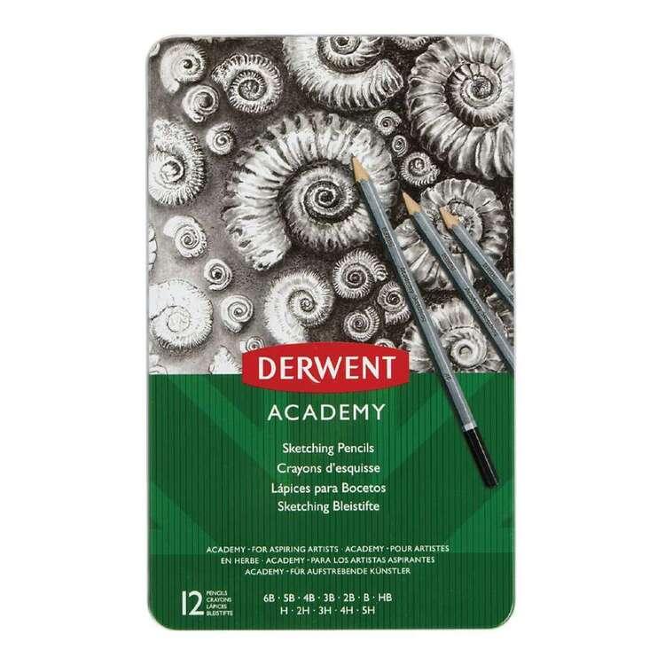 Derwent Academy 12 Pack Sketching Pencils Tin