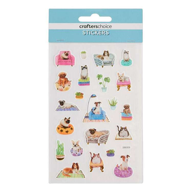 Crafters Choice Washi Dogs & Cats Stickers