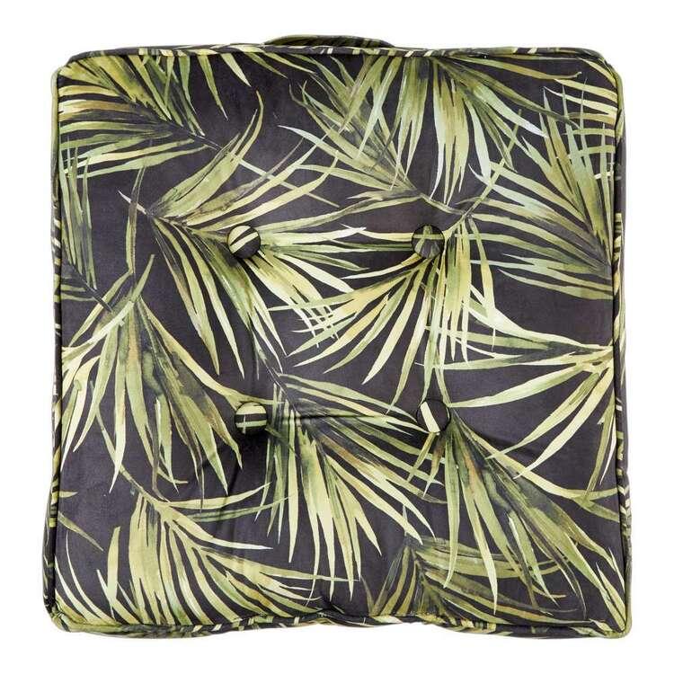 KOO Palms Printed Velvet Floor Cushion