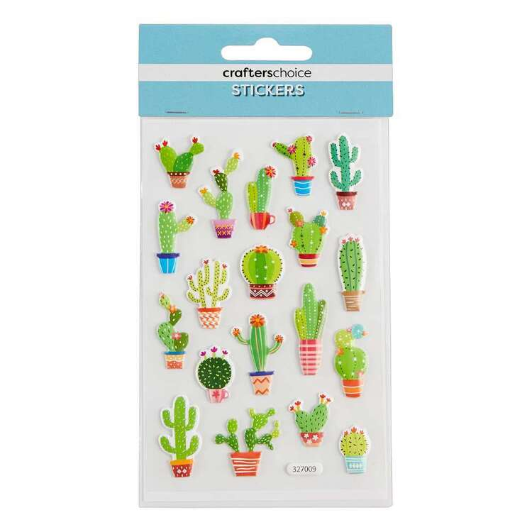 Crafters Choice Puffy Cacti Stickers