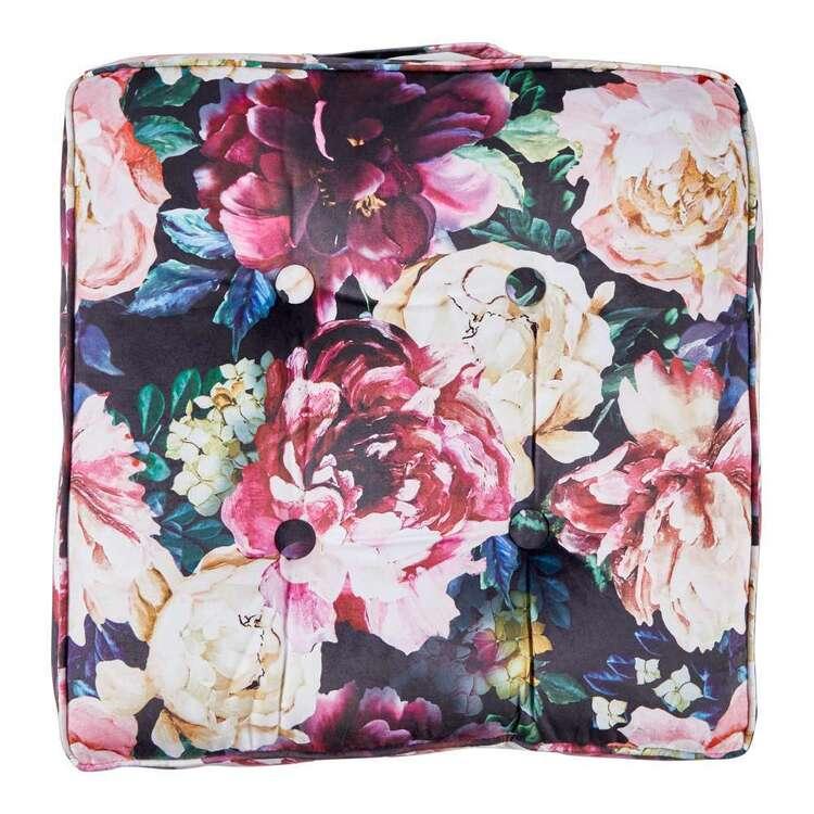 KOO Peony Printed Velvet Floor Cushion