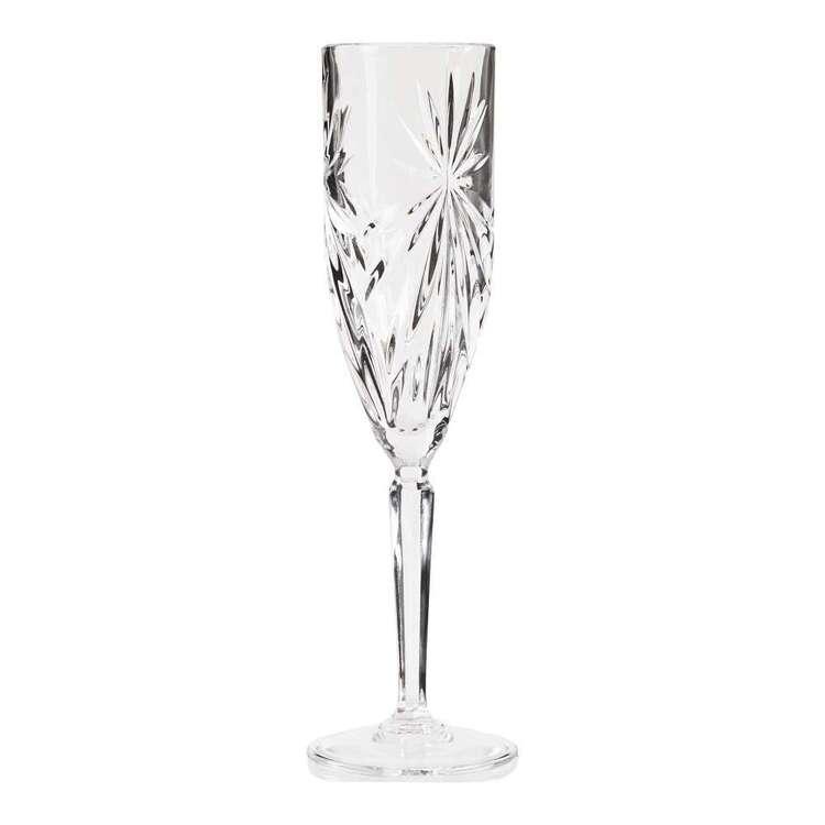 Casa Domani Grazia 4 Pack Glass Flutes