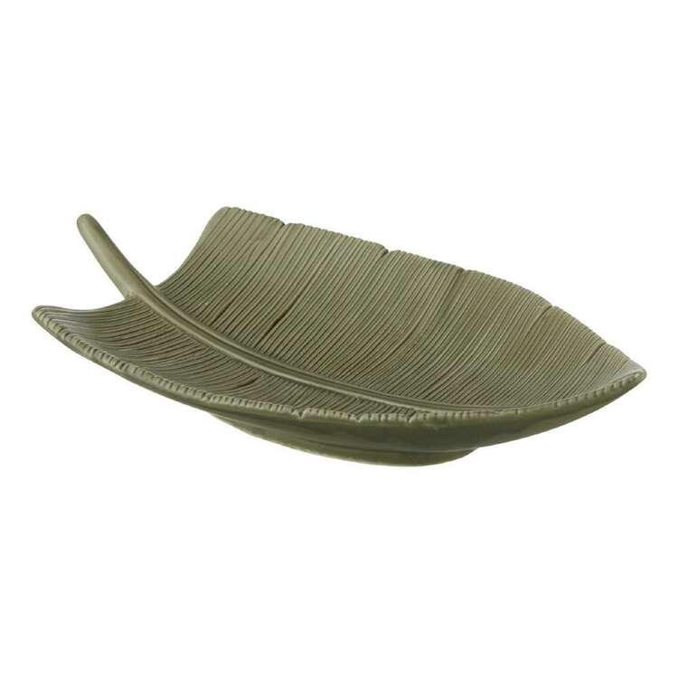 Bouclair Botanical Lush Ceramic Leaf Plate