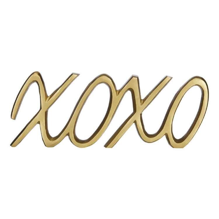 Bouclair Botanical Lush Metallic XOXO Sign