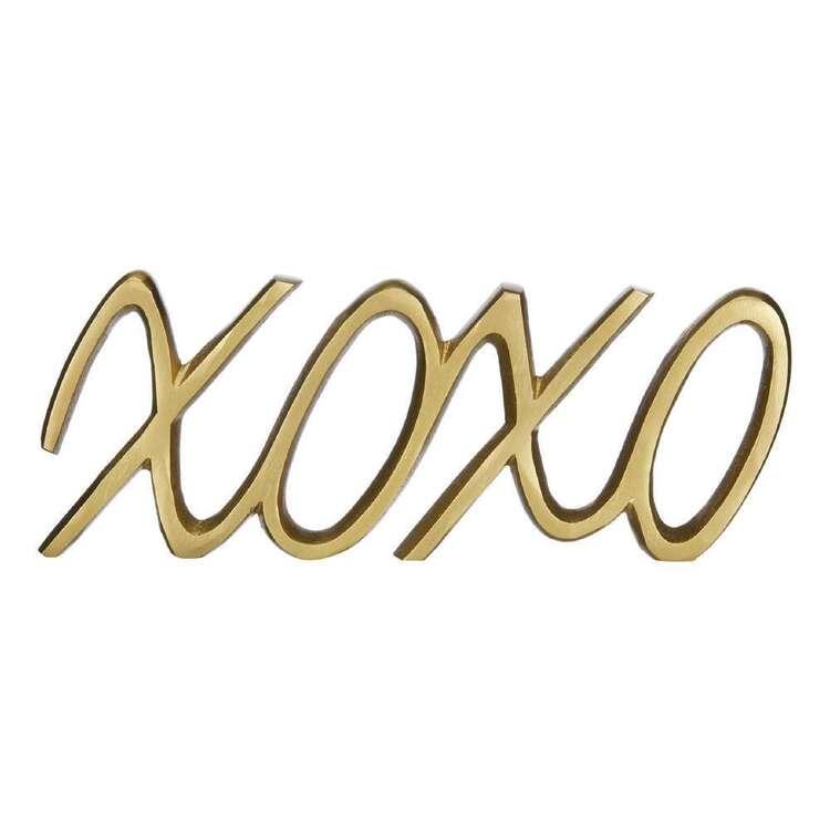 Bouclair Botanical Lush Metallic XOXO Sign