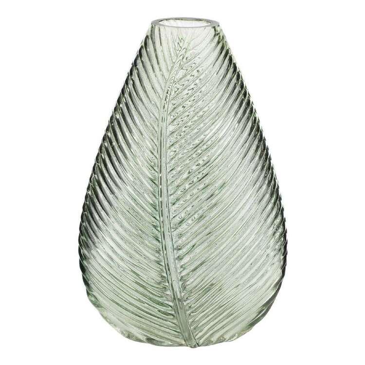 Bouclair Botanical Lush Glass Leaf Vase