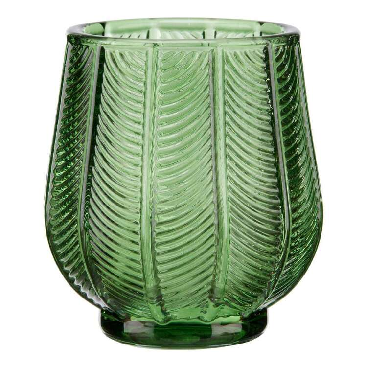 Bouclair Botanical Lush Glass Leaf Tealight Holder