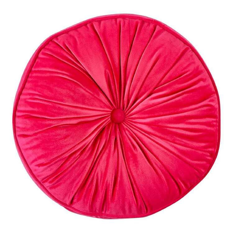 NZ Merchants Royale Round Velvet Piped Cushion