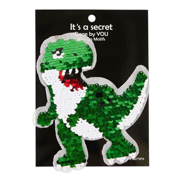 Maria George Baby T-Rex Sequin Iron On Motif