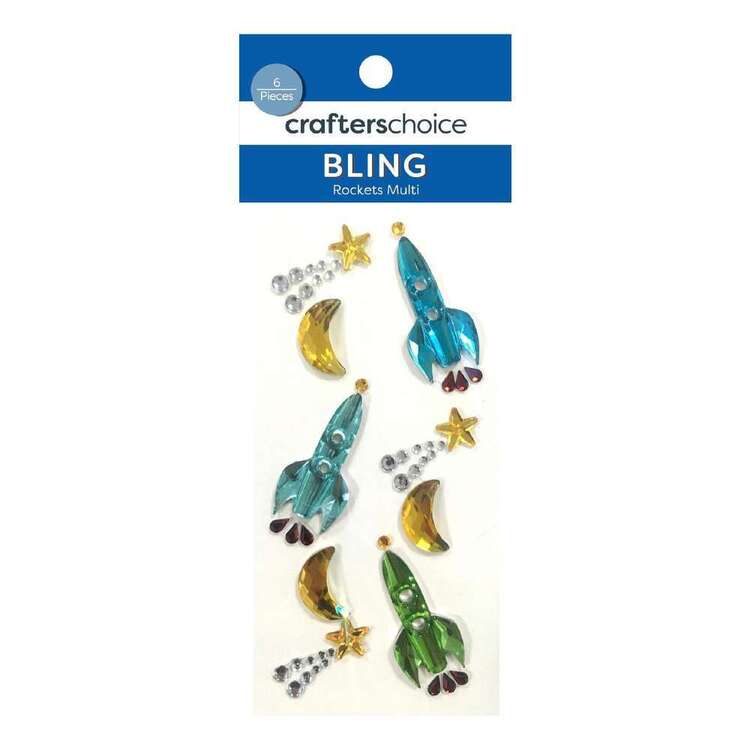 Crafters Choice Bling Rocket Stickers