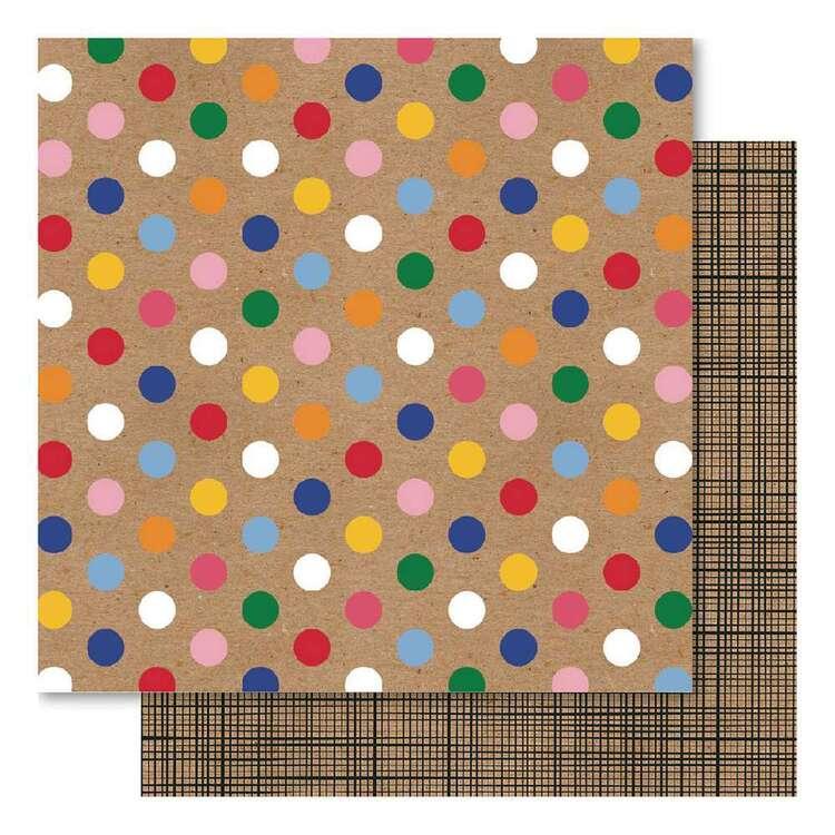 Bella Kraftworx Spotted Cardstock Paper
