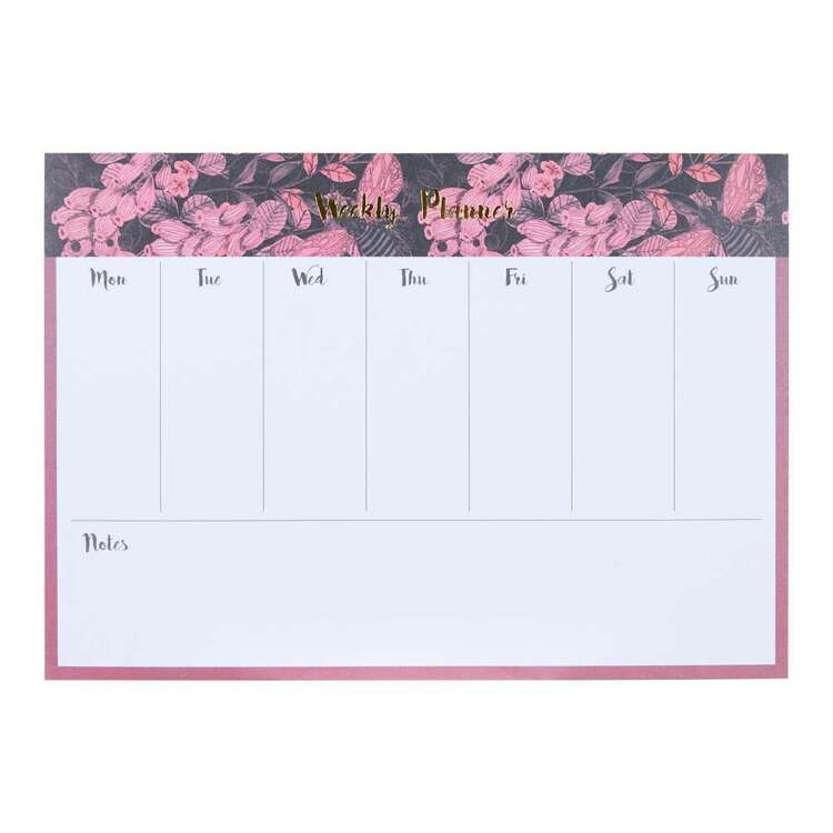 Francheville Pink Floral Weekly Planner