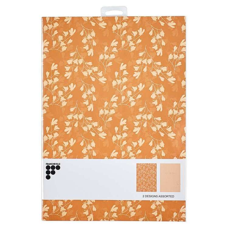 Francheville Floral Camel 2 Pack Assorted Notebook