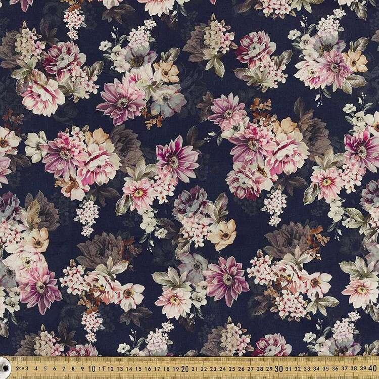 Sumptuous Digital Printed 142 cm Combed Cotton Sateen Fabric