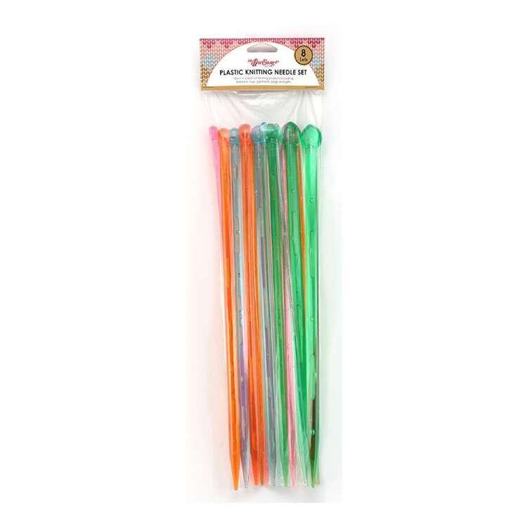Sew Easy Plastic 35 cm Knitting Needles Set 8 Pack