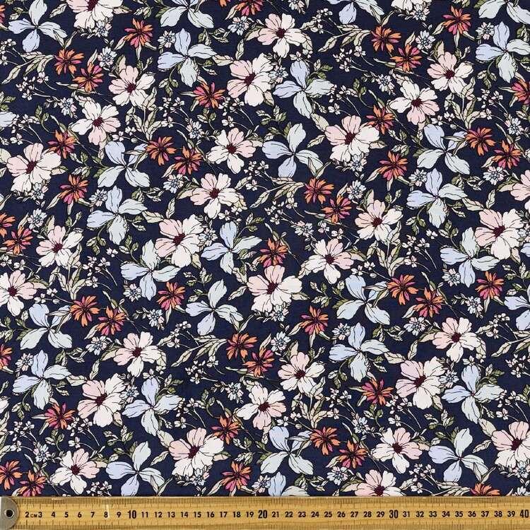Pretty Petal Printed 135 cm Rayon Fabric