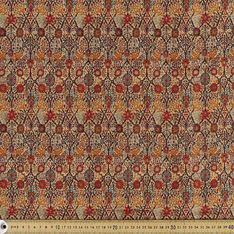 Opulent Digital Printed 142 cm Combed Cotton Sateen Fabric
