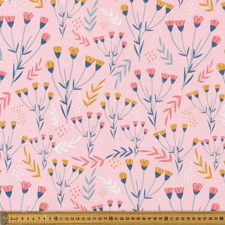 Spot & Leaf Printed 148 cm Rayon Elastane Fabric