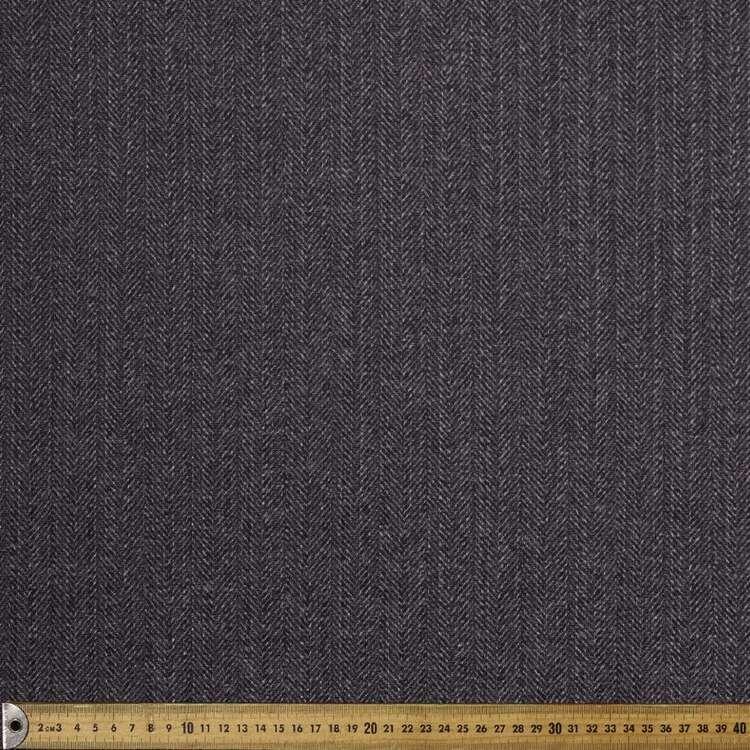 Monochromatic Herringbone Printed 145 cm Ribbed Knit Fabric