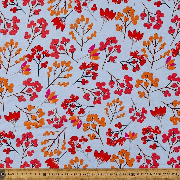 Floral Buds Printed 148 cm Rayon Elastane Fabric