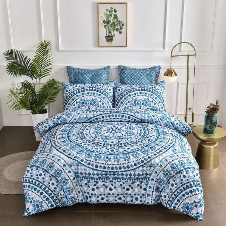 KOO Mandala Quilted Quilt Cover Set