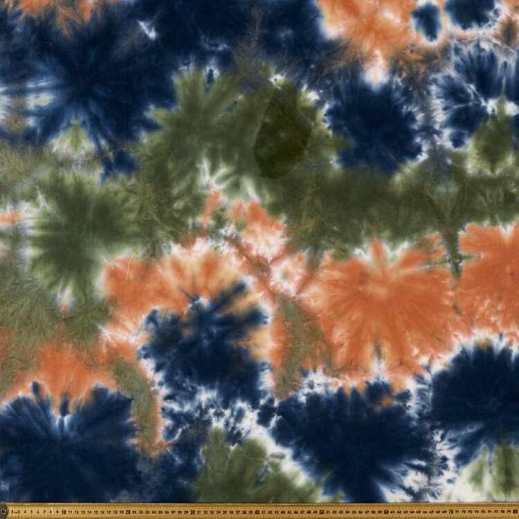 Hand Dyed Tie Dye 148 cm Cotton Elastane Fabric