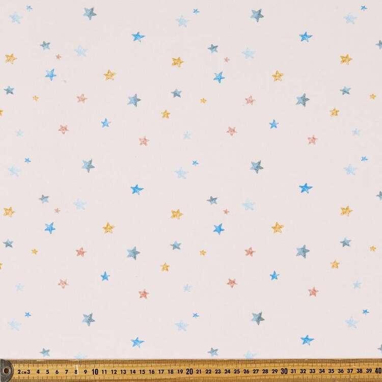 Stars Printed 145 cm French Fleecy Fabric