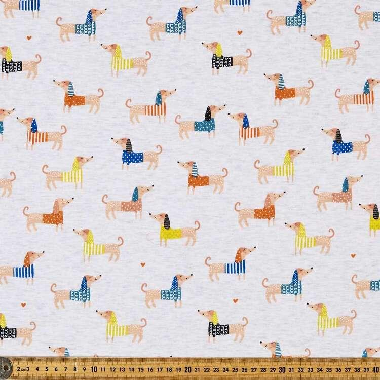 Doggos Printed 145 cm French Fleecy Fabric
