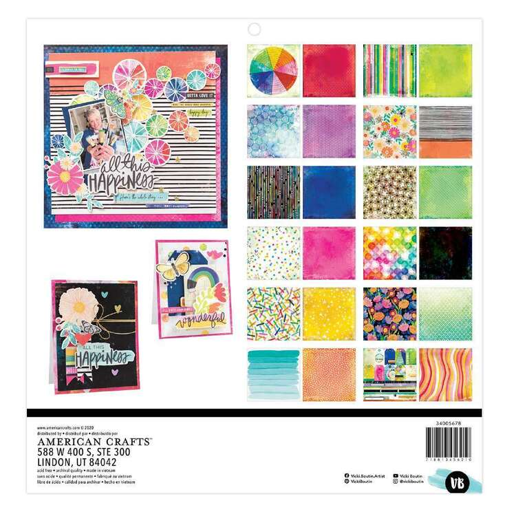 American Crafts 12 x 12 in Vicki Boutin Color Study Paper Pad Colour Study 12 x 12 in
