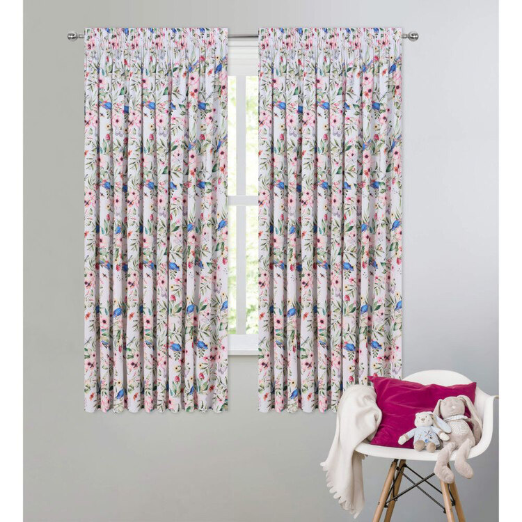 Caprice Watercolour Birds Kids Curtains