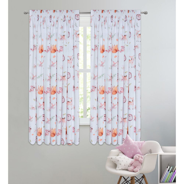 Kids House Critters Blockout Curtains