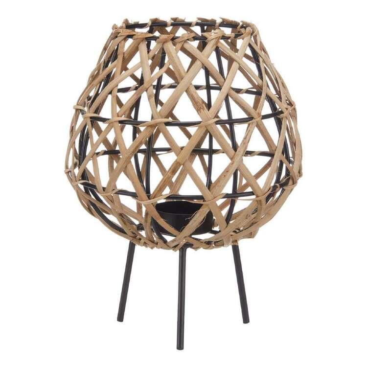 Bouclair Refined Tropics 16.5 x 22 cm Rattan Lantern