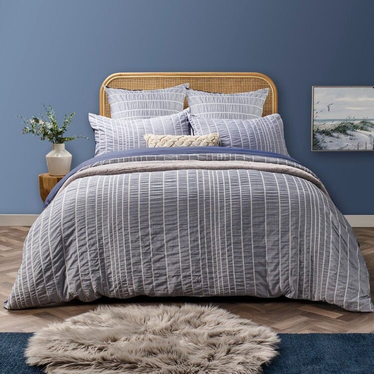 Emerald Hill Bay Stripe Quilt Cover Set