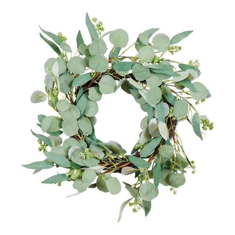 Living Space 53 cm Wreath With Wattle