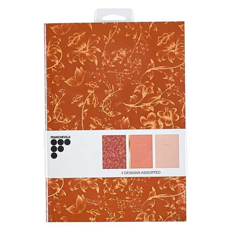 Francheville A5 Floral Netural Notebook 3 Pack