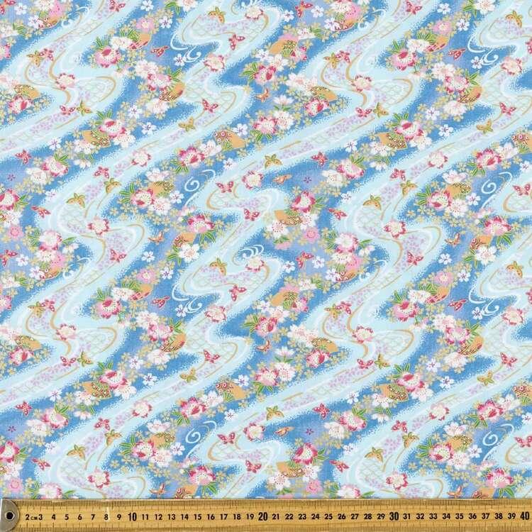 Oriental TC Fans Printed 112 cm Polyester Cotton Poplin Fabric