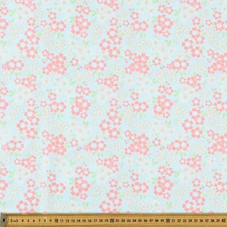 Oriental TC Blossom Printed 112 cm Polyester Cotton Poplin Fabric