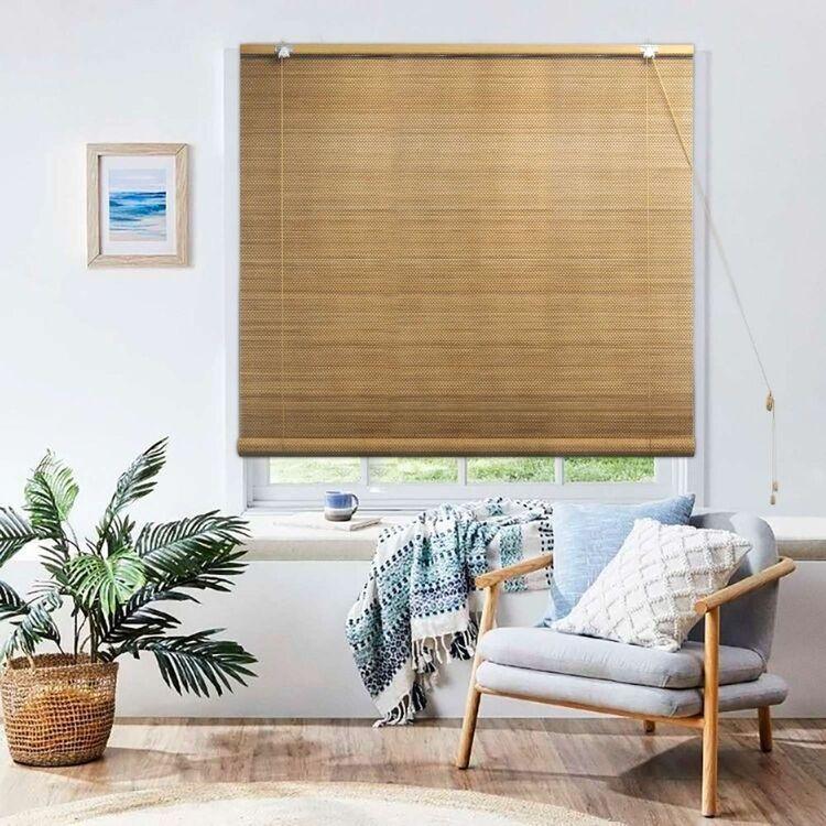Windowshade Teak Bamboo Roll Up Blind