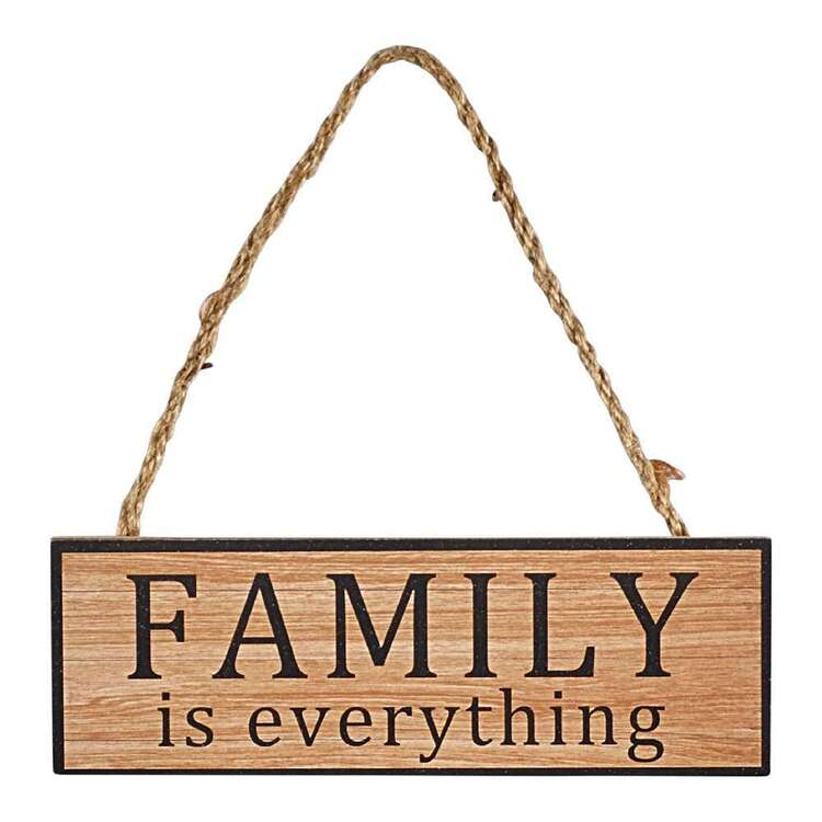 Living Space Family Plaque