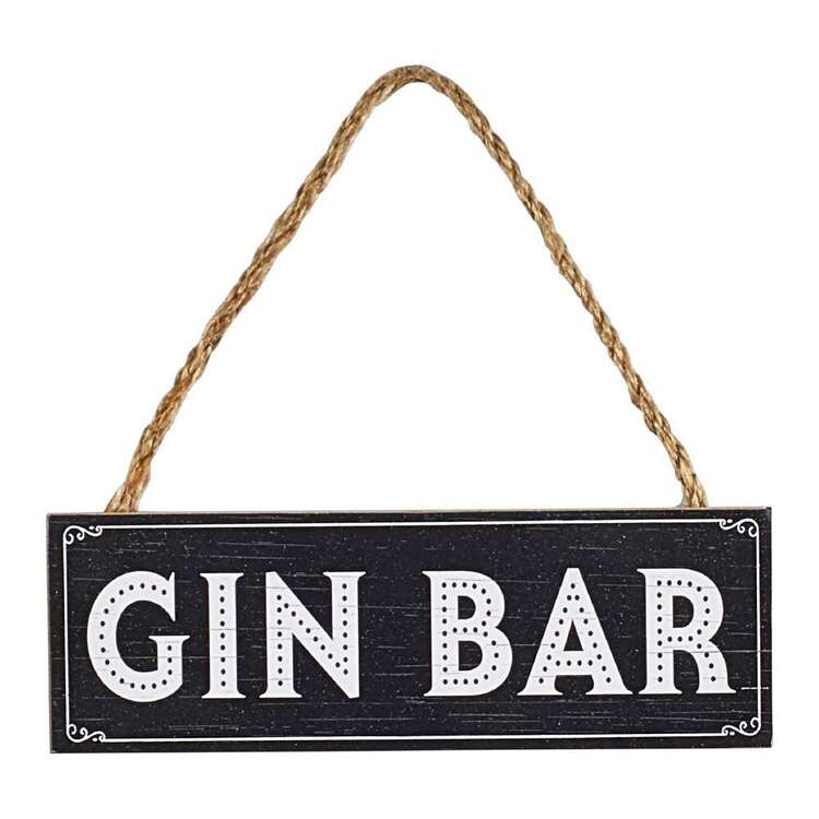 Living Space Gin Bar Plaque