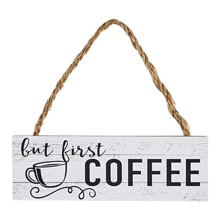 Living Space Coffee Plaque