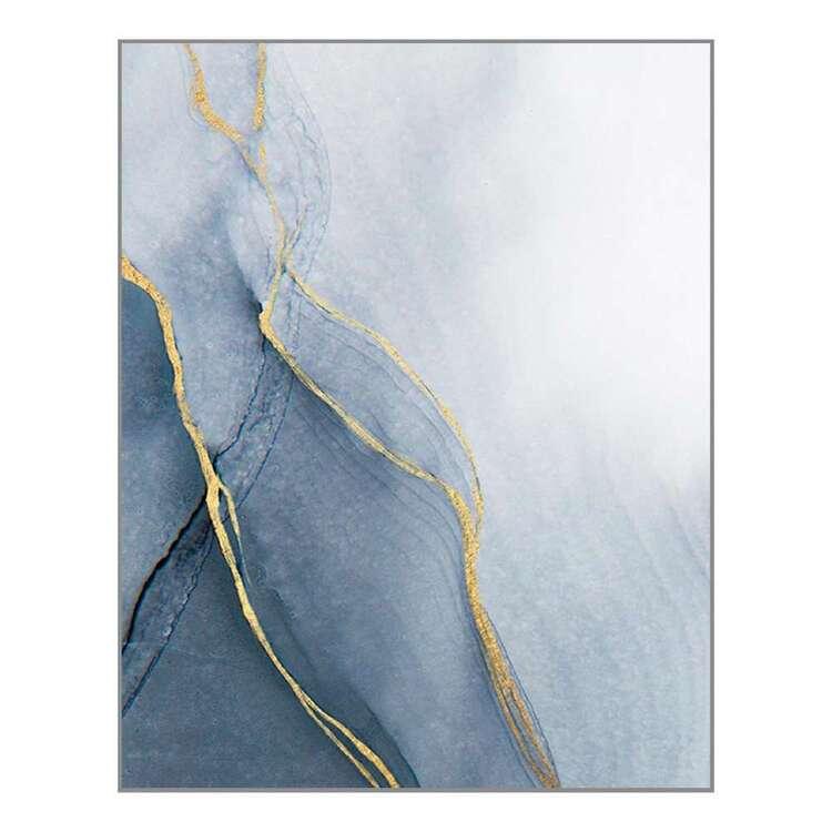 Cooper & Co Platinum Blue Marble Framed Canvas