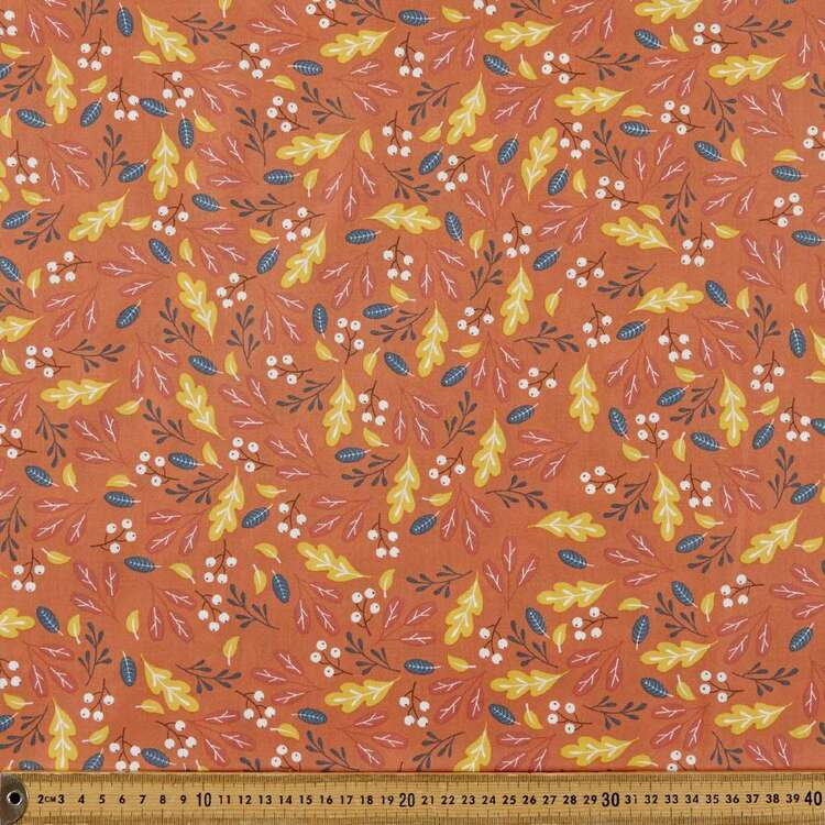 Mix N Match TC Gumnuts Printed 112 cm Poly Cotton Fabric