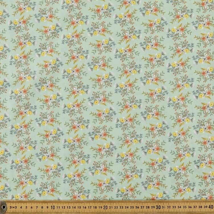 Mix N Match TC Flora Printed 112 cm Poly Cotton Fabric