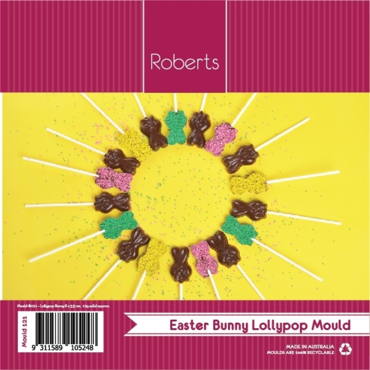 Roberts Edible Craft Easter Bunny Chocolate Lollypop Mould #121