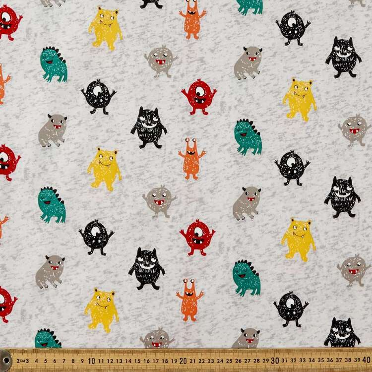 Monster Mash Printed 112 cm Poplin Fabric